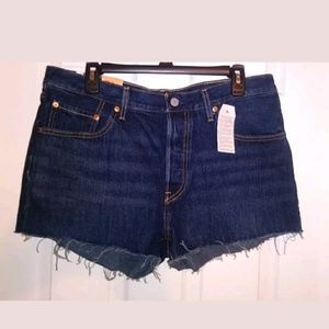 LEVIS 501 Junior's Blue Denim Shorts Size 31